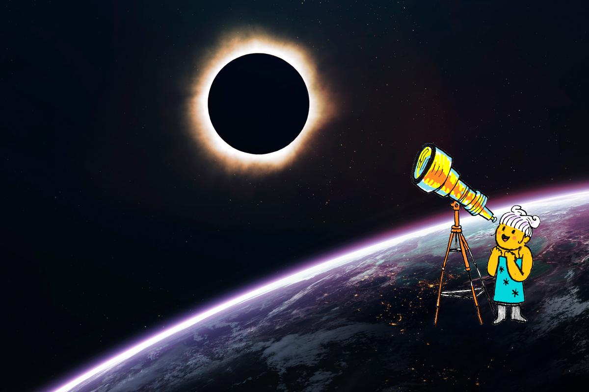eclissi di sole luna astronza
